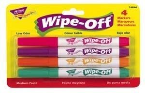Trend Enterprises Wipe-Off Markers (Pack of 4), Bright Colors