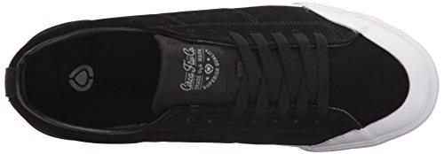 C1RCA Herren Fremont Low Profile Durable Leichter Skate Schuh Schwarz / Paloma Weiß