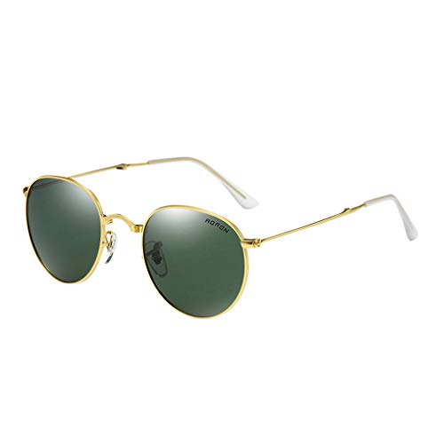 Chezaa Summer Polarized Sunglasses UV Protection Folding Eyebrow Pencil Fashion Retro Glasses for Sport Golf Hiking Fishing Ourdoor Activities for Men Women Chums (Green)
