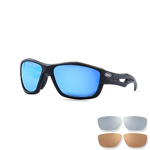 RUNCL Sports Polarized Sunglasses Zion, Fishing Sunglasses, 3 Interchangeable Lens
