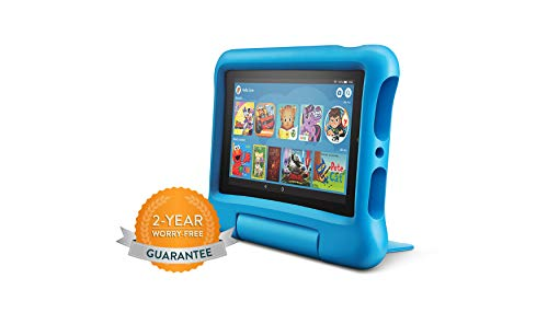 "31h25BpIxCL - All-New Fire 7 Kids Edition Tablet, 7"" Display, 16 GB, Blue Kid-Proof Case"