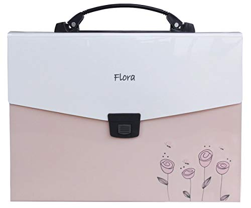 (Snail&Hawk Poly Accordion Expanding-File-Folder with Handle and Tabs,A4 Size,13-Pockets,Pink)
