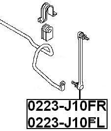 FEBEST 0223-J10FL Front Left Stabilizer//Sway Bar Link