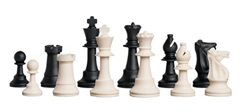 (Regulation Silicone Tournament Chess Set - Pieces Only - 3.75