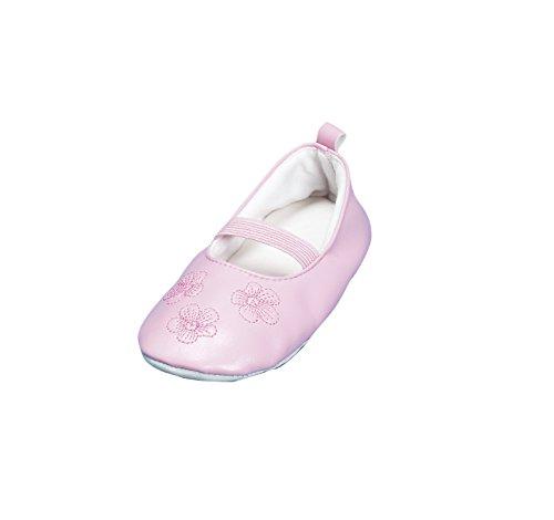 Playshoes Gymnastikschuhe, Balettschläppchen Blumen 208751, Mädchen Ballerinas, Pink (original 900), EU 24/25