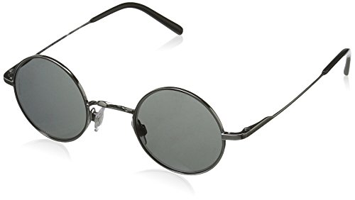 Dolce & Gabbana Men's Steel Man Round Sunglasses, Gun Metal, 42 - Gabbana And Vintage Dolce