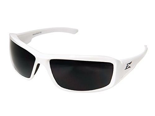 - 4001990 Edge Eyewear Brazeau White Frame Polarized Smoke Lens