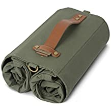 Linus Bike Market Roll-Up Pannier Bag - Army Green