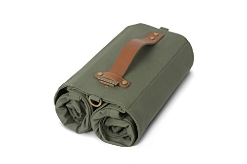 Linus Bike Market Roll-Up Pannier Bag - Army Green by Linus