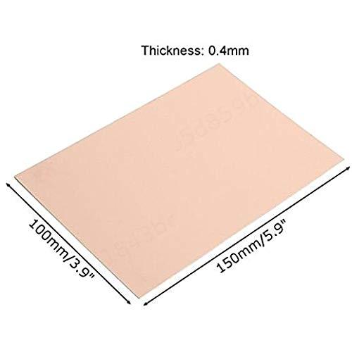2 Laminate LIUSHUI 10Pcs 100X150Mm Copper Clad Plate 0.4Mm Fr4 Pcb Printed Circuit Board