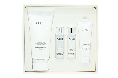 Ohui Extreme White Foam 160ml Special gift Set and Hair Tie 1pc - Extreme White Flowers