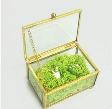 Caja de anillo para bodas con forma de anillo geométrica, caja de ...