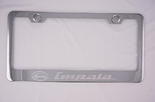 Chevy Impala Chrome License Plate Frame with (Chevy Impala License Plate)
