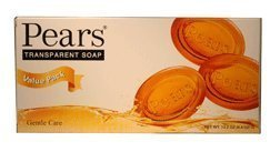 [Pears Natural Glycerine the Original Transparent Soap - 4.4 Oz 3 in a Pack (Pack of 4) 12 Bars Total] (Pears Glycerin Soap)