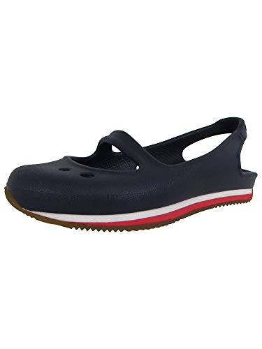 Crocs Kids Retro Mary Jane Slip On Shoes, Navy/Red, US 9 Toddler