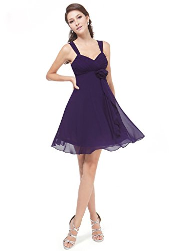 Purple Bridesmaid Chiffon Aurora Spaghetti Bridal Dress Strap Women xPS6wg