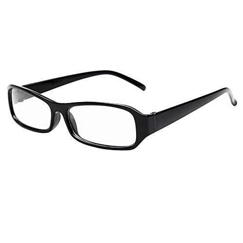 FancyG® Vintage Inspired Classic Rectangle Glasses Frame Eyewear Clear Lens - - Length Frame Glasses