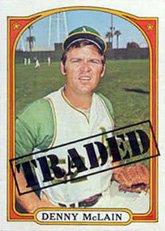 1972 Topps Regular (Baseball) card#753 Denny McLain TR of the Detroit Tigers Grade Fair/Poor