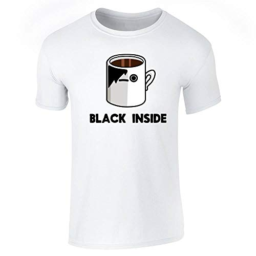 Emo Coffee Black Inside Funny White 2XL Short Sleeve T-Shirt