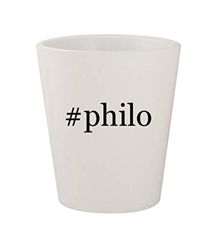 Glasses Byblos - #philo - Ceramic White Hashtag 1.5oz Shot Glass