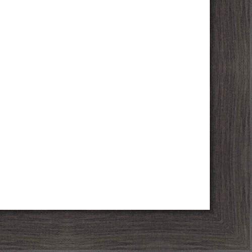 27x40 - 27 x 40 Charcoal Flat Solid Wood Frame with UV Framer's Acrylic & Foam Board Backing - Great For a Photo, Poster, Painting, Document, or Mirror