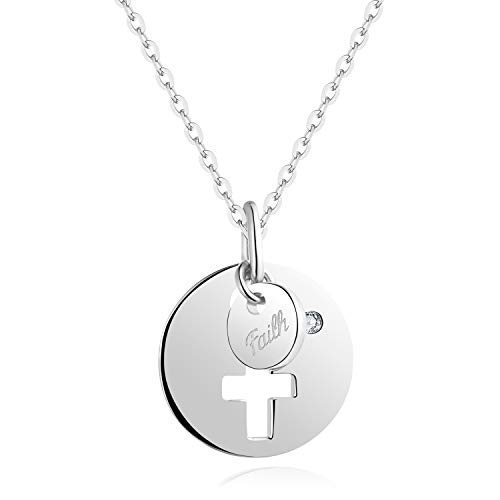 YL Cross Necklace with A