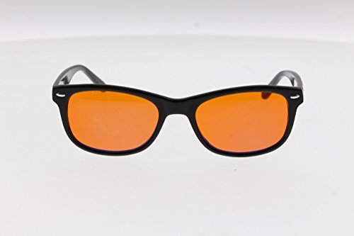 BLU BLCK's Blue-Light Blocking Glasses Amber (Orange)Tinted Lens Blocks 100% of Blue/UV - Lens Blocker Blue
