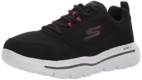 Skechers Men's GO Walk Evolution Ultra-Enhance Sneaker Black/Red 14 M US