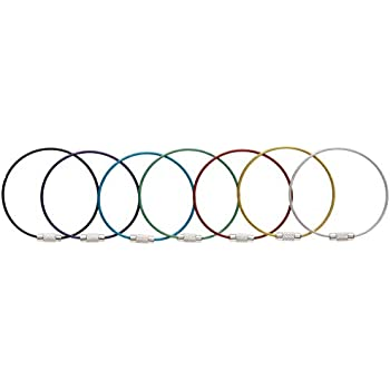 Amazon Com Multicolor Steel Wire Keychain Stainless Key