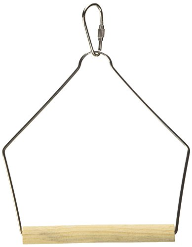 (Prevue Pet Products BPV388 Natural Wood Birdie Basics Birch/Wire Swing, 4 by)
