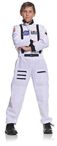 Underwraps Children's Astronaut Costume - White, Large (10-12) -