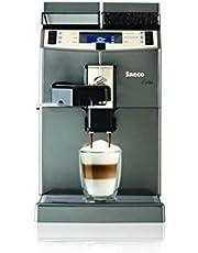 Saeco 10004768 volautomatische espressomachine, roestvrij staal, 2 liter, zwart, medium