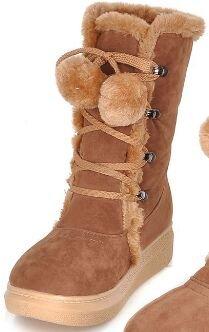 Laruise Women's Snow Boots Camel YbqSIk3X5E
