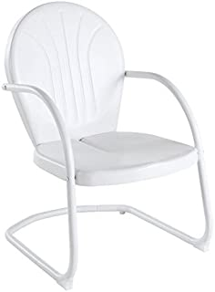 Crosley Furniture Griffith Metal Outdoor Chair - White  sc 1 st  Amazon.com & Amazon.com: Crosley Furniture Griffith 3-Piece Metal Outdoor ...
