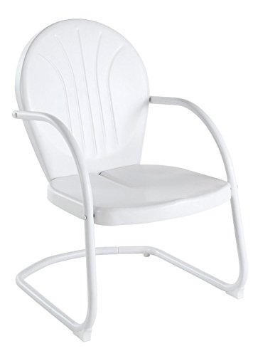 Crosley Furniture Griffith Metal Outdoor Chair   White