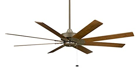 Fanimation Levon - 63 inch - Oil-Rubbed Bronze with Walnut Blades -220v and and Pull-Chain - - Fanimation Oil