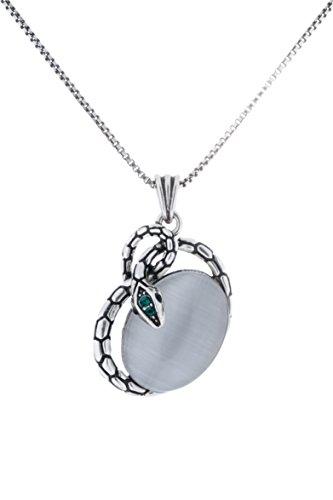 Cat Swarovski Collars (LaDual Fashion Jewelry Vintage Snake Pendant Necklace--Embracing Change)