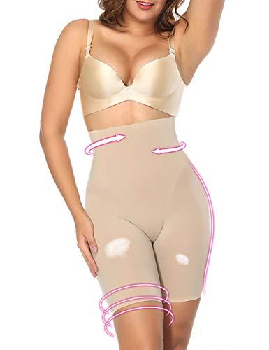 Women's Hi-Waist Thigh Slimmer Body Shaper Butt Lifter Shapewear Tummy Control Panties Nude M