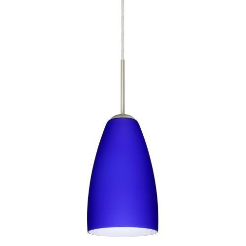 - Besa Lighting 1JT-1511CM-SN Riva 9 Pendant with Cobalt Blue Matte Glass, Satin Nickel
