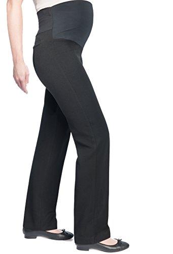 Christoff Mujer Pierna Estrecha Elástico Pantalones De Maternidad Estilo Negocios Gris (Antracita)