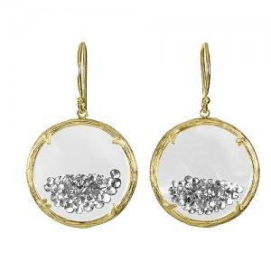 Amazon.com: Small Branch Shaker Earrings (Clear) 18K Gold ...