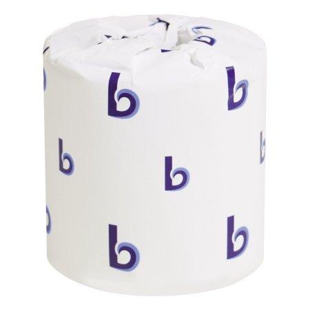 Boardwalk Two-Ply Toilet Tissue, White, 4 1/2 x 3 3/4 Sheet, 500 Sheets/Roll, 96 Rolls/CT - 1 Case