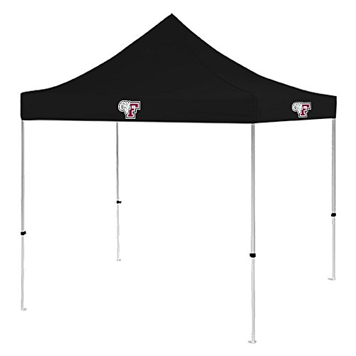 Fordham 9 ft x 9 ft Black Tent 'F w/Ram Head' by CollegeFanGear