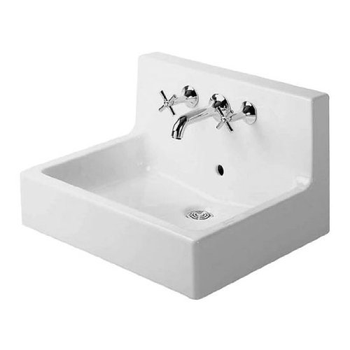 Duravit 04536000001 Vero Three-Hole Wash Basin, White Finish (Washbasin Mounted Wall)