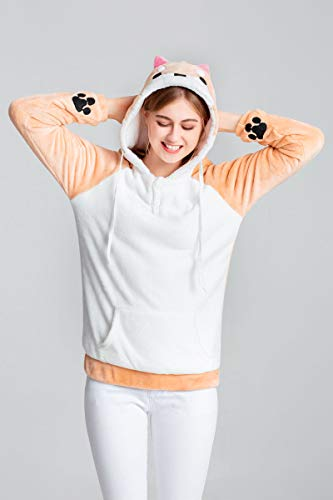 a783ba713 CORIRESHA Cute Coral Velvet Long Sleeve Shiba Inu Dog Home Wear Clothes  Hoodie Sweatshirt with 3D