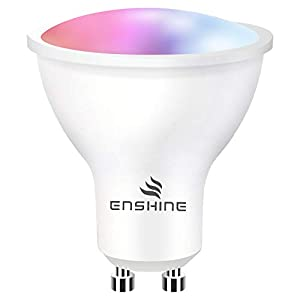 Enshine GU10 Smart Bulb S, Tunable White and RGB Colour Changing WiFi Light Bulbs, Compatible with Alexa and Google Home…