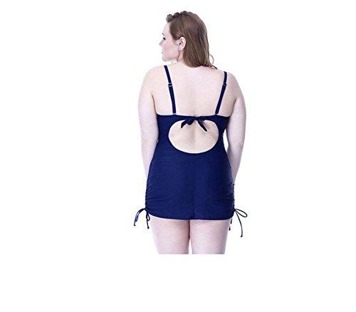 SHISHANG La Sra bikini de una sola pieza traje de baño de Europa y la cubierta del traje de baño de gran tamaño de Estados Unidos era delgada y alta protección del medio ambiente flexibles Red
