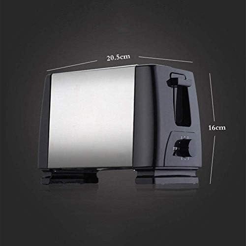 Skysep Polyvalent 2 Tranches Grille Pain Acier Inoxydable Durable Chauffage Dégivrer Grille-Pain Multifonctionnel Machine Déjeuner 6 Arrêt Thermostat Décoration D'intérieur