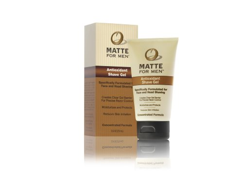 Matte For Men Antioxydant Gel à raser, 2,5 once