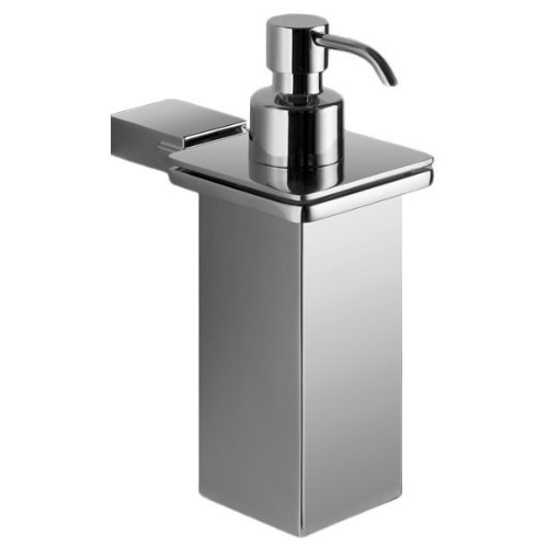 Gedy Kansas Wall Mounted Square Polished Soap Dispenser, Chrome by Gedy